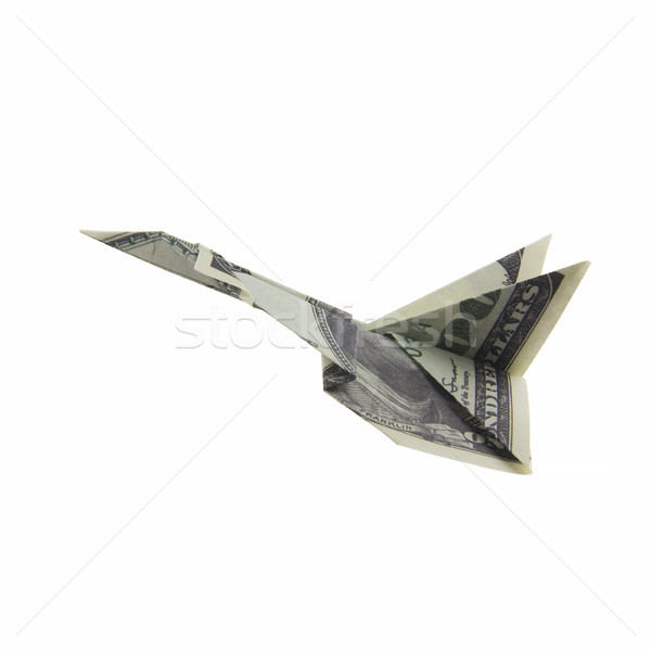 origami airplane from banknotes Stock photo © butenkow