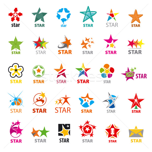 biggest collection of vector logos stars Stock photo © butenkow
