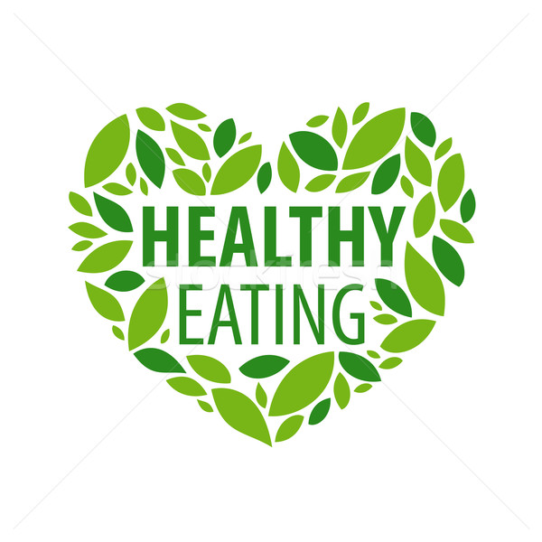 Vetor logotipo coração pétalas dieta saudável negócio Foto stock © butenkow