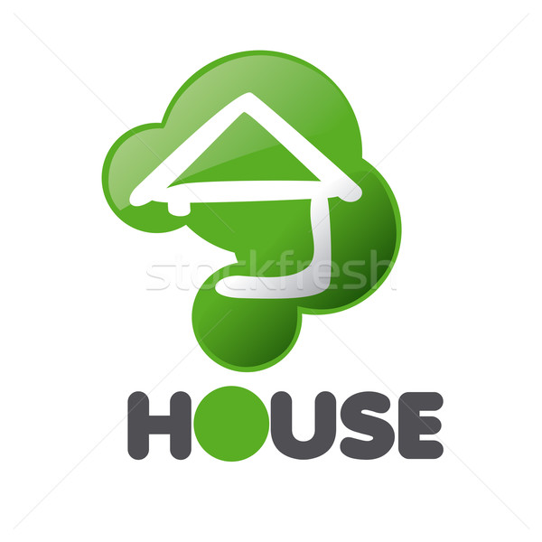 vector logo House in the sign issue Stock photo © butenkow