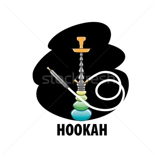 вектора логотип кальян дизайн логотипа шаблон икона Сток-фото © butenkow