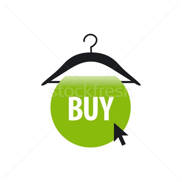 Vector logo hanger groene knop cursor Stockfoto © butenkow