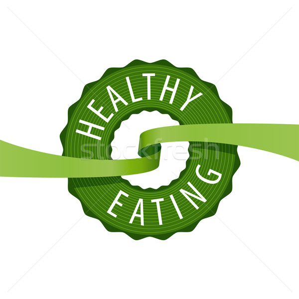 vector logo stamped healthy eating Stock photo © butenkow