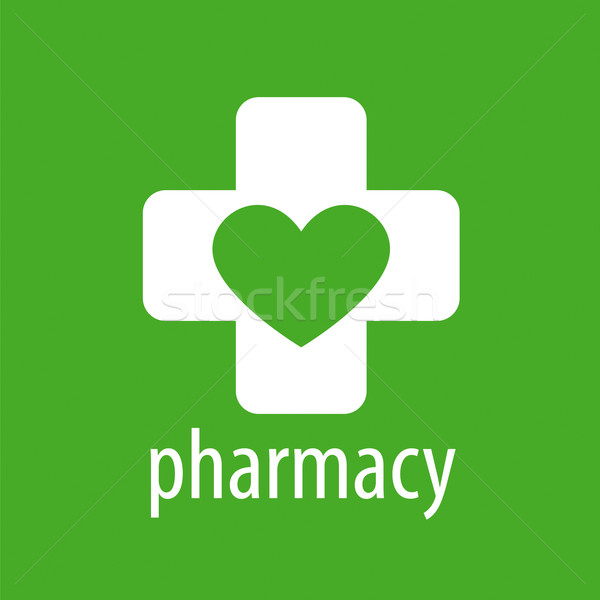 vector logo heart and cross for pharmacy Stock photo © butenkow