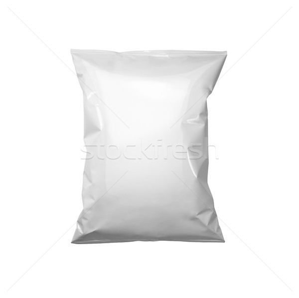 Witte pakket sjabloon plastic zak snack Stockfoto © butenkow