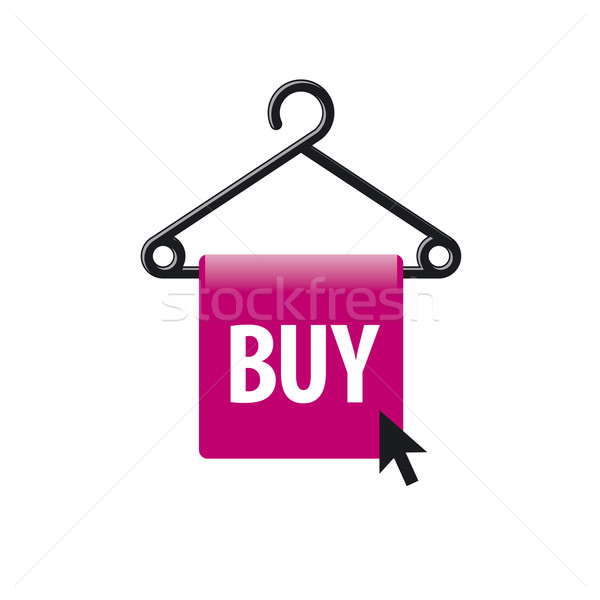 vector logo hanger with a button and the cursor Stock photo © butenkow