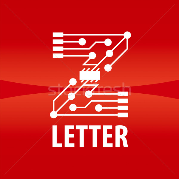 vector logo letter Z in the form chip on a red background Stock photo © butenkow