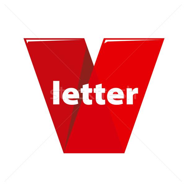 Vector logo brief vorm bureaucratie abstract Stockfoto © butenkow