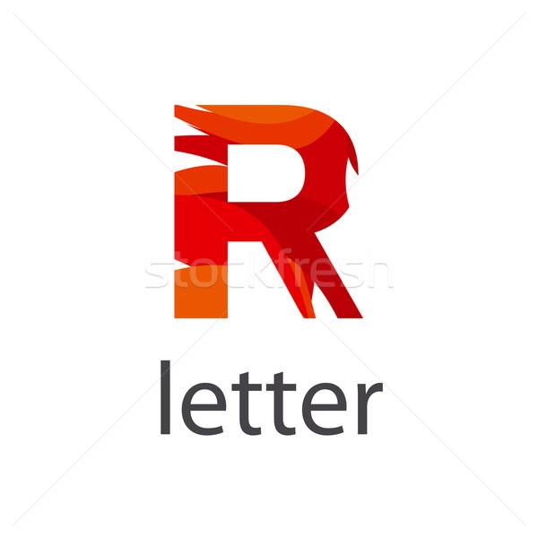 Absztrakt vektor logo színes r betű üzlet Stock fotó © butenkow