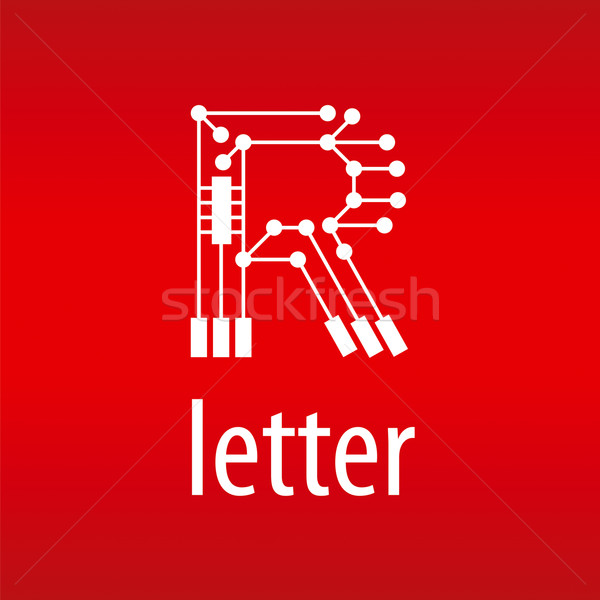 Absztrakt vektor logo r betű űrlap chip Stock fotó © butenkow