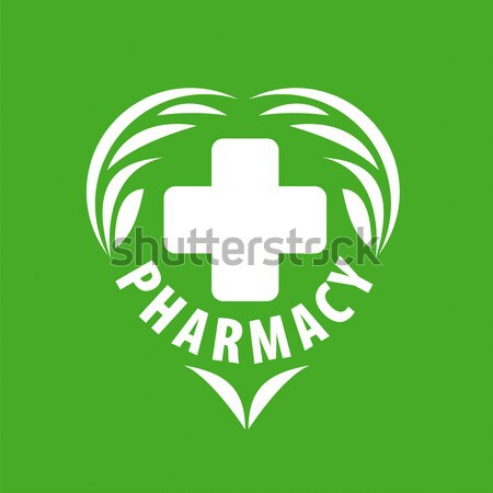Round vector logo for pharmaceutical companies Stock photo © butenkow