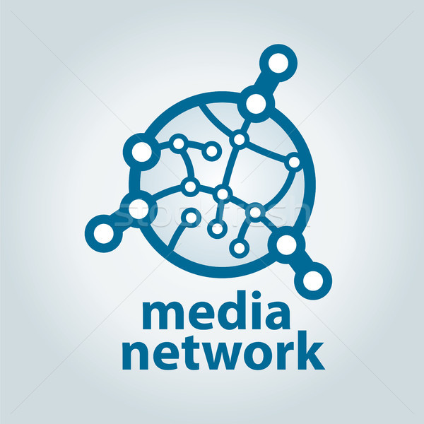 vector logo and electronic media network Stock photo © butenkow