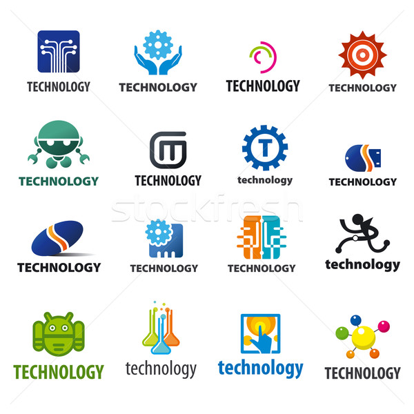 biggest collection of vector logos technology Stock photo © butenkow