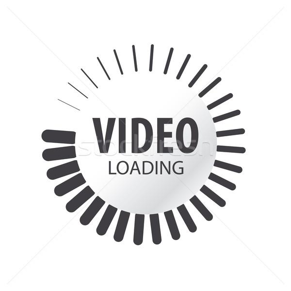 abstract vector logo video loading  Stock photo © butenkow