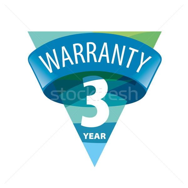 triangular vector logo 3-year warranty Stock photo © butenkow