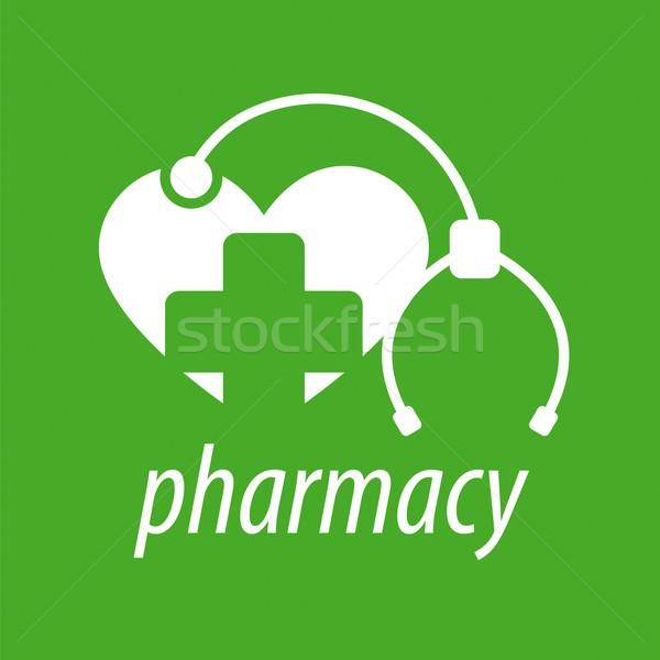 Stok fotoğraf: Vektör · logo · kalp · çapraz · stetoskop