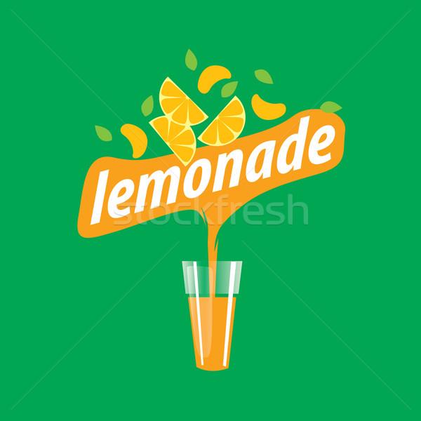 Logo limonata bottiglia succo icona lungo Foto d'archivio © butenkow