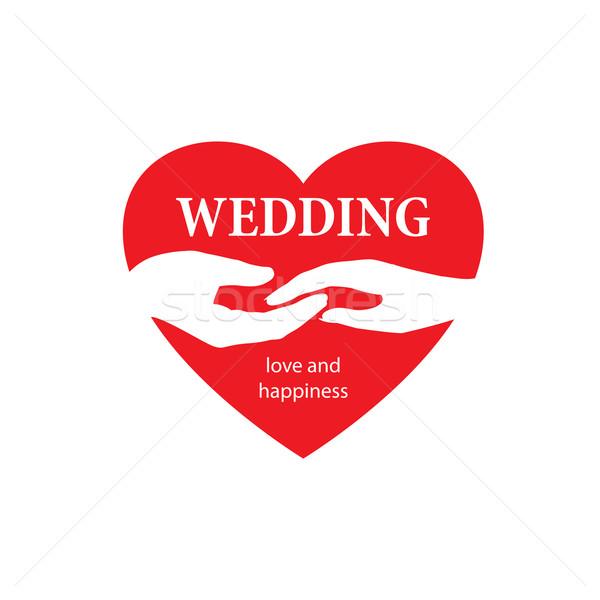 Vettore logo wedding abstract modello illustrazione Foto d'archivio © butenkow