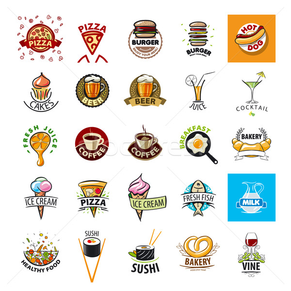 biggest collection of vector logos Food Stock photo © butenkow