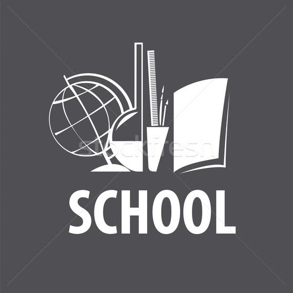 vector logo accessories for studies in school Stock photo © butenkow