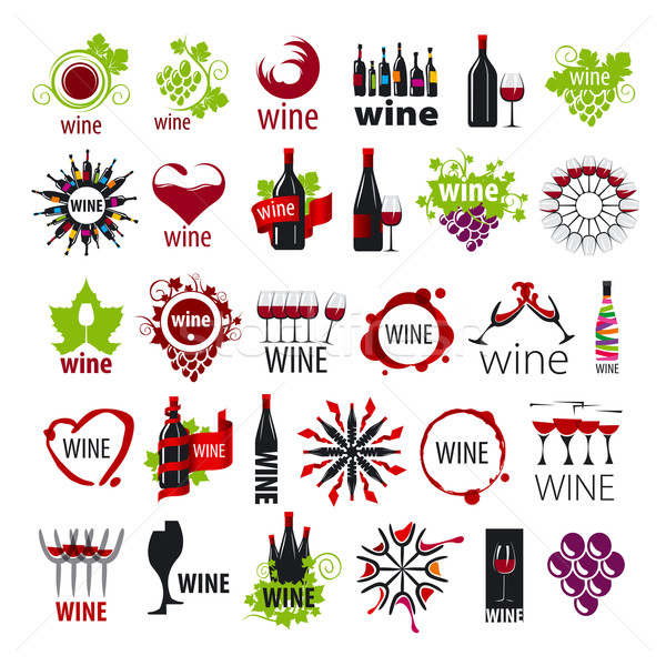 biggest collection of vector logos wine  Stock photo © butenkow