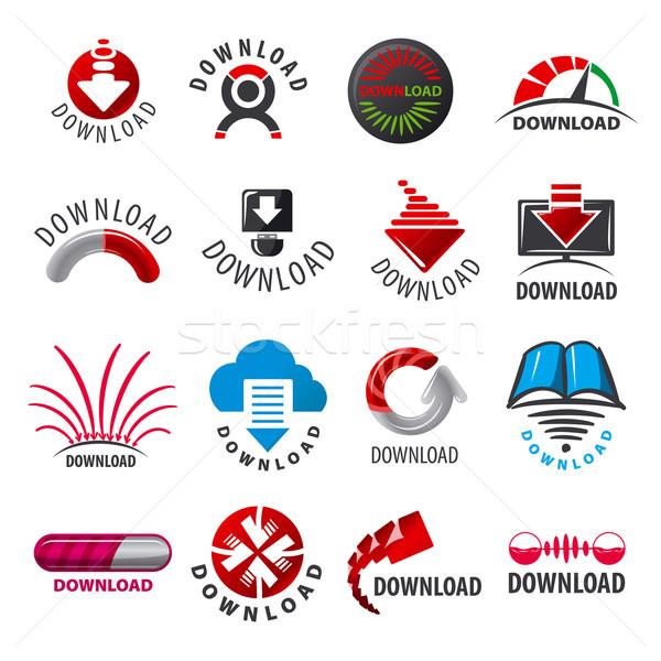 Stok fotoğraf: Büyük · ayarlamak · vektör · logolar · indirmek · dizayn