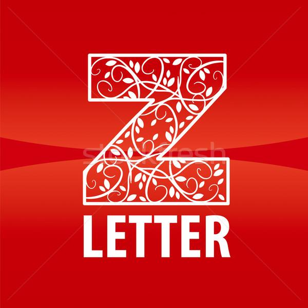 вектора логотип письмо z цветочный орнамент моде Сток-фото © butenkow