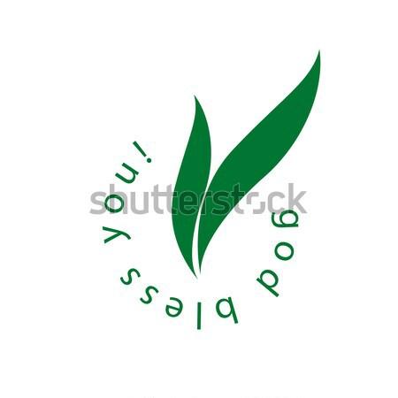 grassy logo Stock photo © butenkow