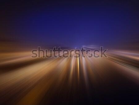 speed in the night Stock photo © butenkow