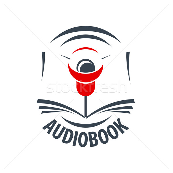 Vector logo rojo orador ordenador libro Foto stock © butenkow