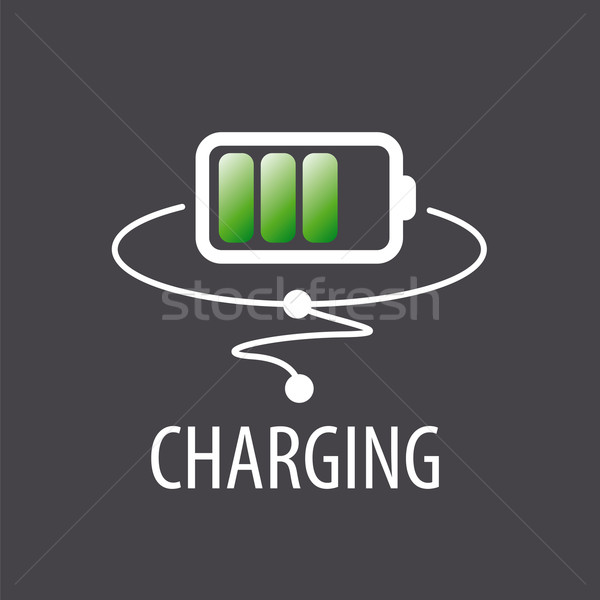vector logo with green battery charging Stock photo © butenkow