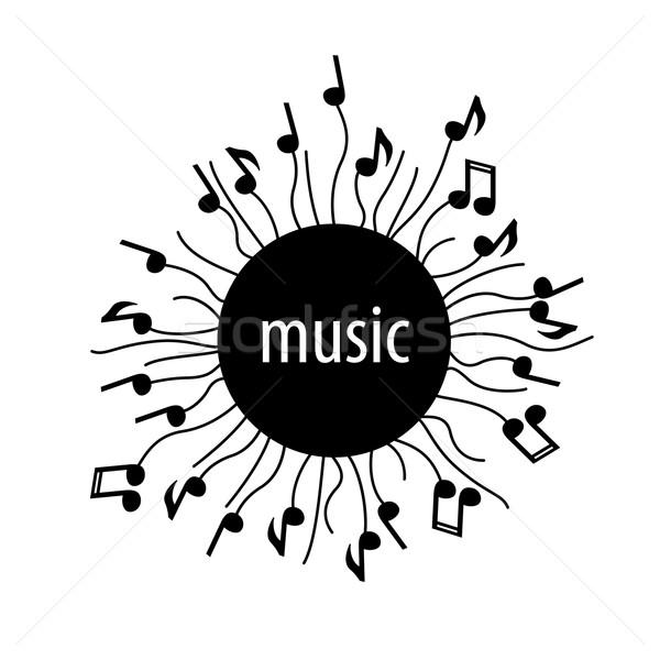 Vecteur logo musique résumé sonores modèle Photo stock © butenkow