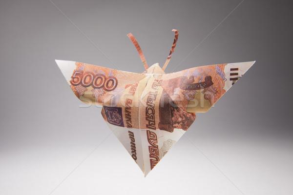 Dólares forma mariposas origami mariposa fuera Foto stock © butenkow