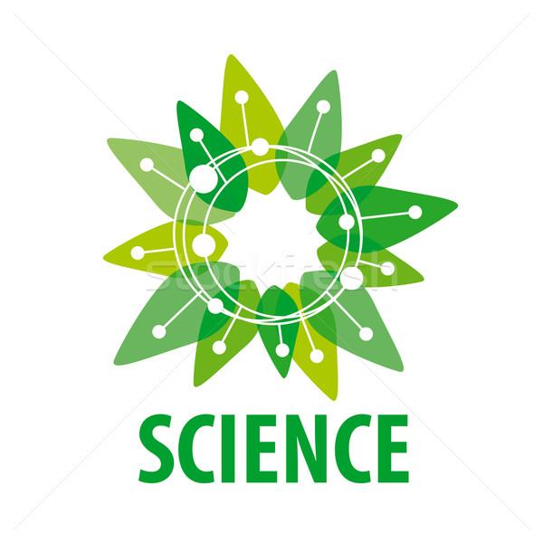 vector logo chip as a green flower Stock photo © butenkow