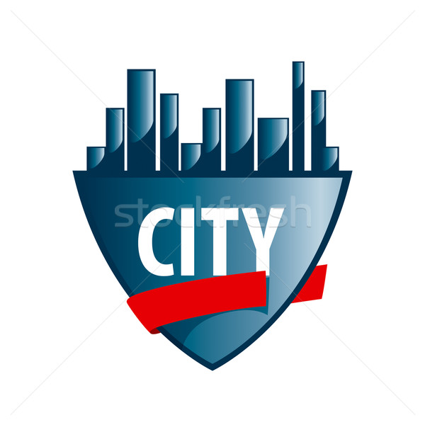 Abstract vector logo city protected Stock photo © butenkow
