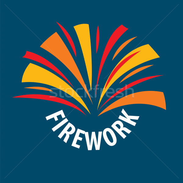 vector logo abstract multicolored fireworks Stock photo © butenkow