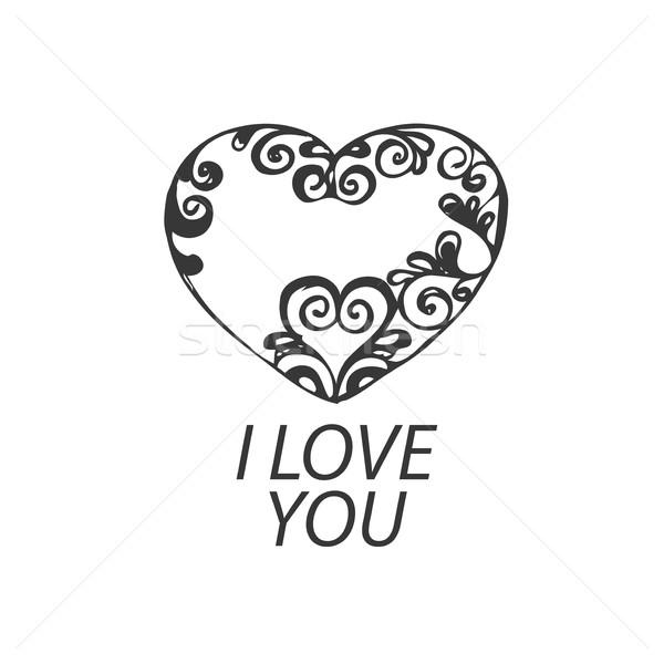 vector logo heart Stock photo © butenkow