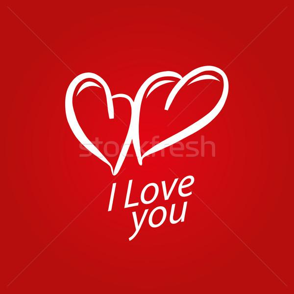 Vecteur logo coeur modèle résumé déclaration Photo stock © butenkow