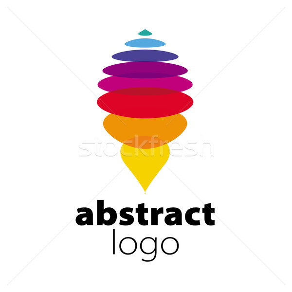 Abstrato vetor logotipo espectro projeto folha Foto stock © butenkow