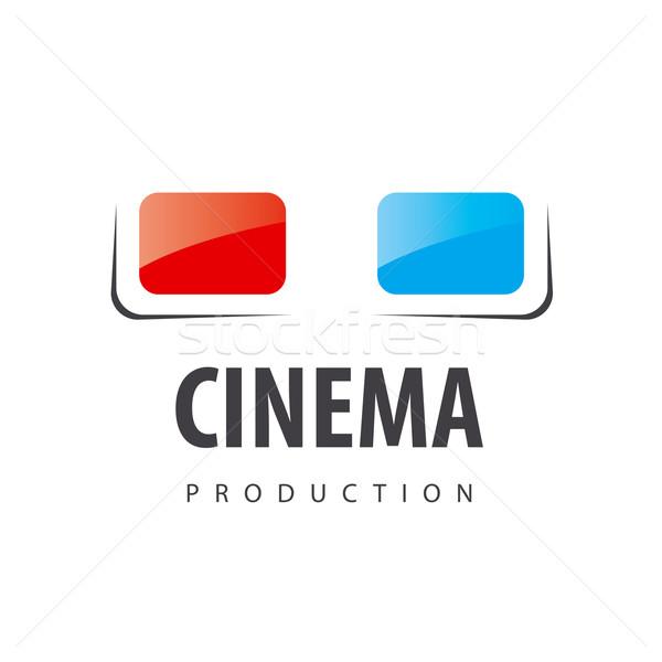 Stockfoto: Vector · logo · bril · 3D · Films · abstract