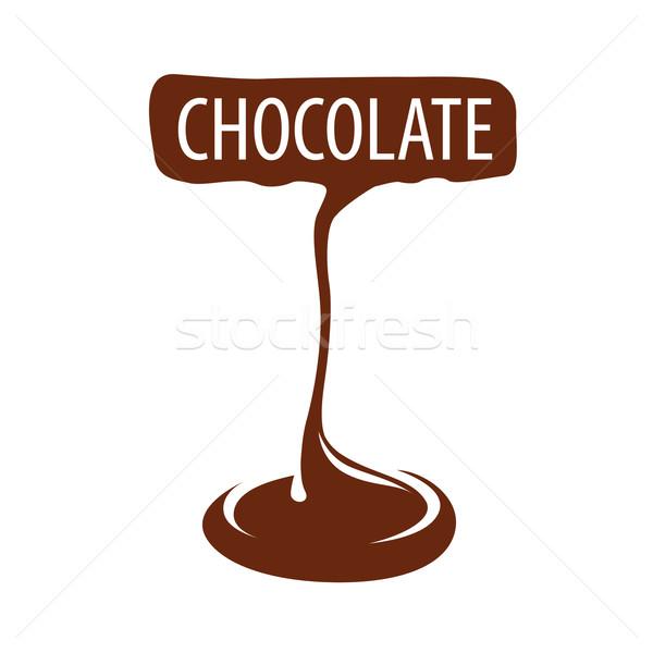 Vetor logotipo fabrico chocolate escuro café natureza Foto stock © butenkow