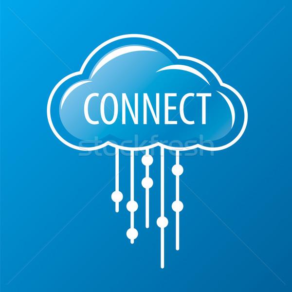 ベクトル ロゴ 雨 クラウドネットワーク ビジネス 電話 ストックフォト © butenkow