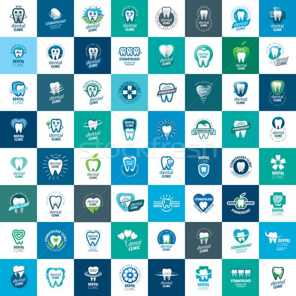 Vektör logo diş hekimliği tedavi önleme koruma Stok fotoğraf © butenkow