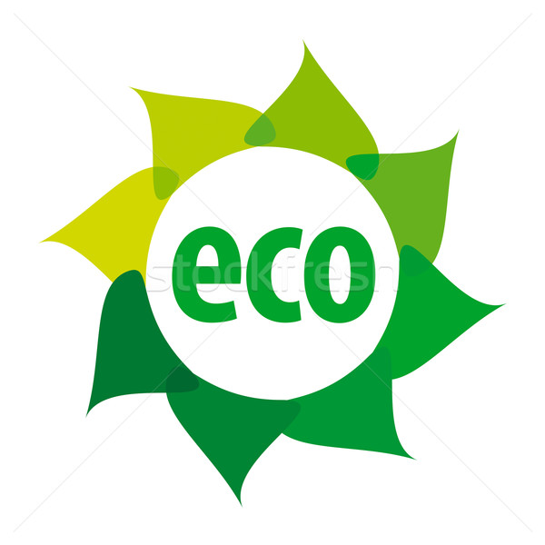 eco vector logo in the shape of a flower Stock photo © butenkow