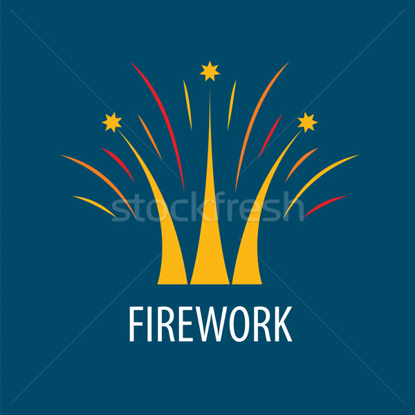 Abstract vector logo fireworks in the form of a crown Stock photo © butenkow