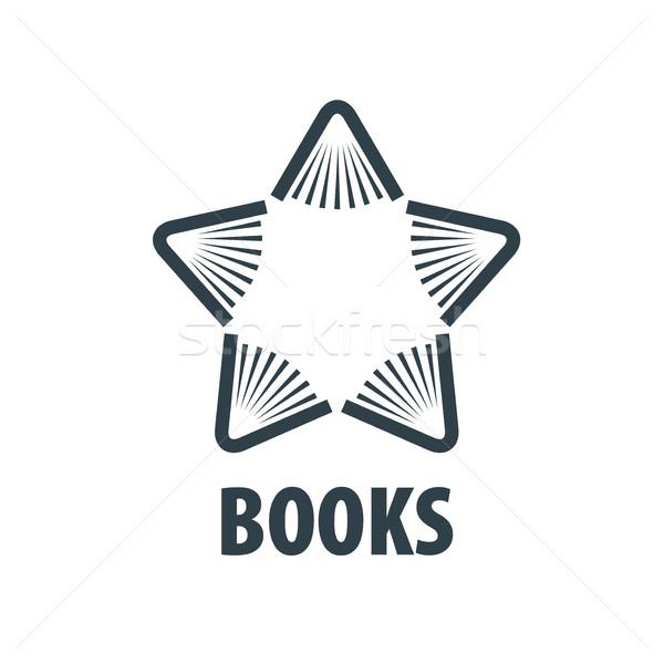 Vetor assinar livro abstrato logotipo livros Foto stock © butenkow