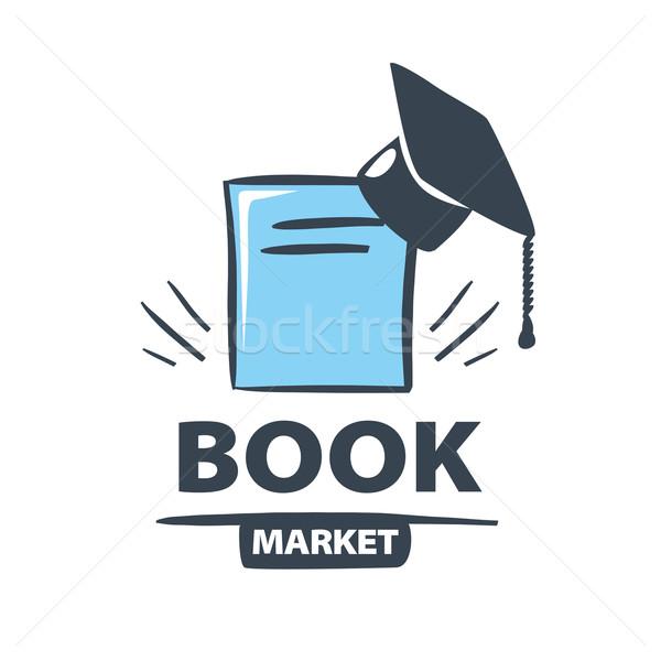 Vektör logo oxford kapak kitap bilgisayar Stok fotoğraf © butenkow