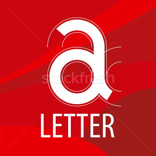Vektor logo piros levél űrlap rajz Stock fotó © butenkow