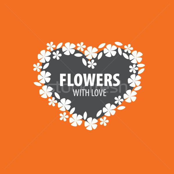 花ベクトル ロゴ 抽象的な フローラル デザイン 工場 ストックフォト © butenkow