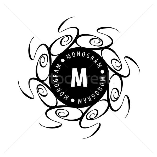 монограмма вектора кадр логотип шаблон шаблон Сток-фото © butenkow